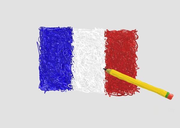 Franceflagpencil